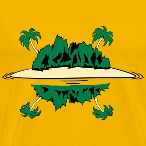 Island palm beach T-Shirts - Men's Premium T-Shirt