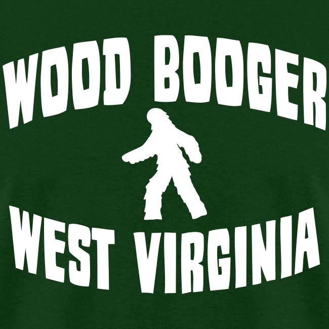Wood Booger West Virginia Bigfoot  - Men's Shirt - White Print
