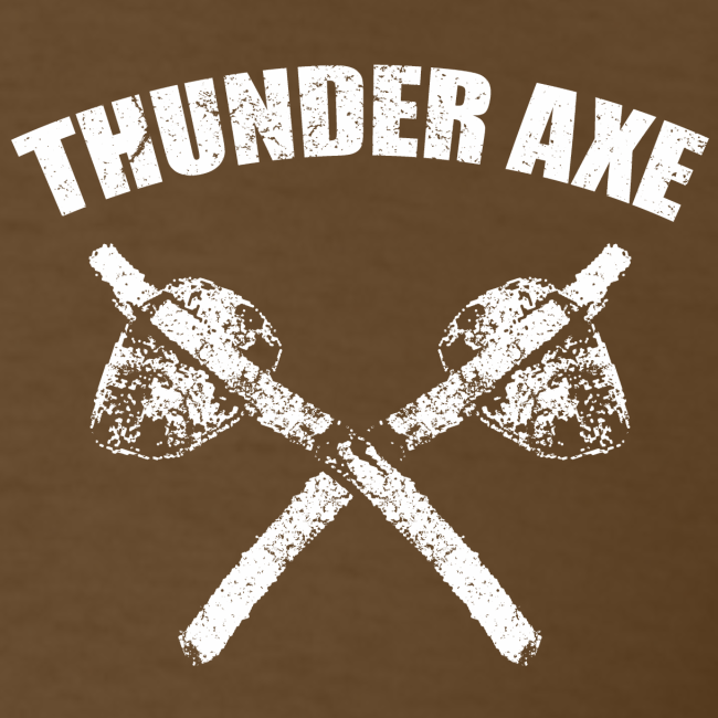 Thunder Axe / Lightning Man Bigfoot / Sasquatch Shirt - White Print (Front & Back)
