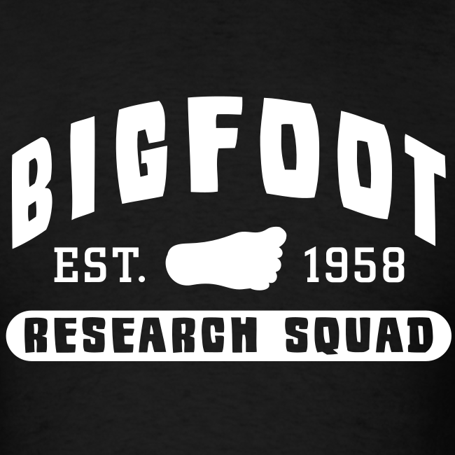 Bigfoot Research Squad - White Print (Front & Back)