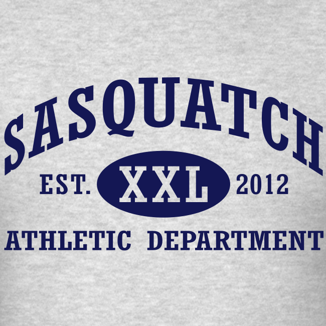 Sasquatch Athletic Department Official Shirt - Navy Blue Print