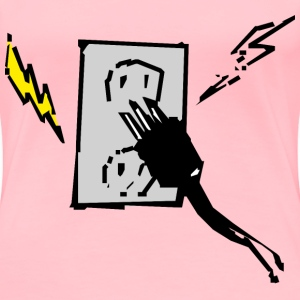 Electrical outlet and plug - Women's Premium T-Shirt