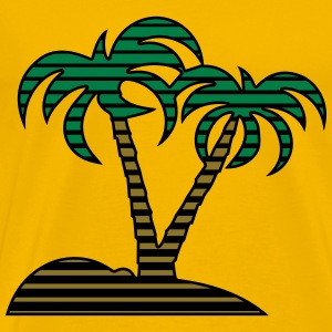 Island palms hatch T-Shirts - Men's Premium T-Shirt