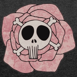 Skulls&roses - Women´s Rolled Sleeve Boxy T-Shirt