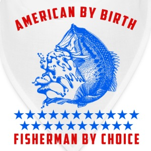 American by birth fisherman by choice Caps - Bandana