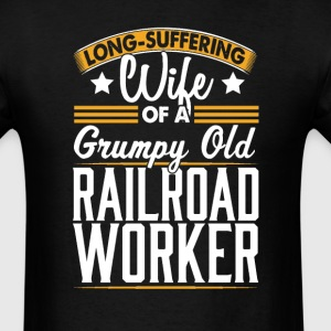 Railroad Worker Long Suffering Wife T-Shirt T-Shirts - Men's T-Shirt