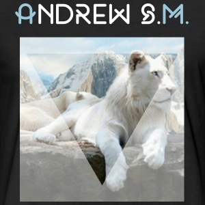 White lion - Fitted Cotton/Poly T-Shirt by Next Level