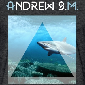 Shark - Fitted Cotton/Poly T-Shirt by Next Level