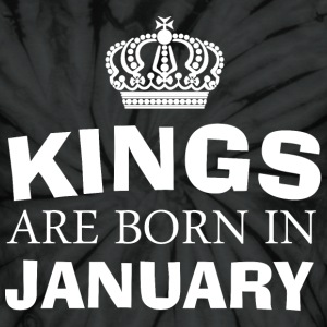 kings are born in january - Unisex Tie Dye T-Shirt