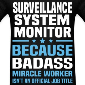 Surveillance System Monitor T-Shirts - Men's T-Shirt