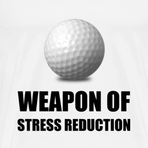 Weapon of Stress Reduction Golf - Men's Premium T-Shirt