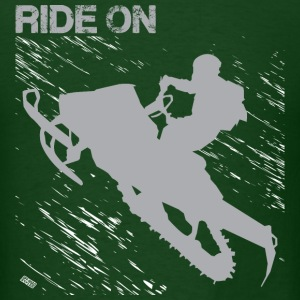 Snowmobile Riding T-Shirts - Men's T-Shirt