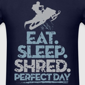 Snowmobile Eat Sleep T-Shirts - Men's T-Shirt