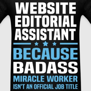 Website Editorial Assistant T-Shirts - Men's T-Shirt