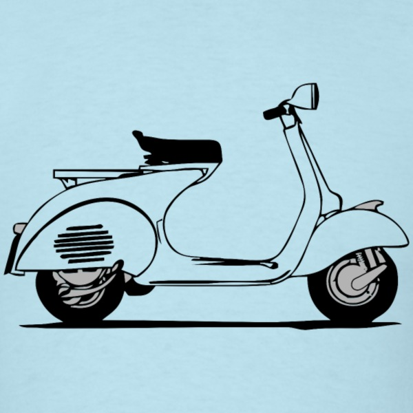 vintage vespa scooter classic 1960's - Men's T-Shirt