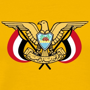 Emblem of Yemen svg - Men's Premium T-Shirt