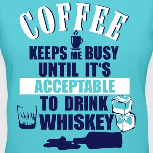 Coffee - drink Whiskey T-Shirts - Women's V-Neck T-Shirt