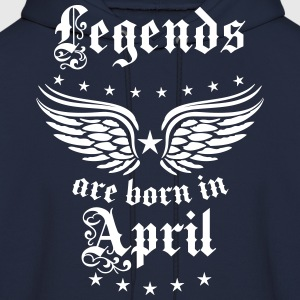 Legends are born in April birthday Vintage Hoodie - Men's Hoodie