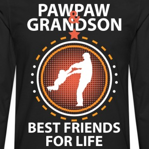 Pawpaw And Grandson Best Friends For Life Long Sleeve Shirts - Men's Premium Long Sleeve T-Shirt
