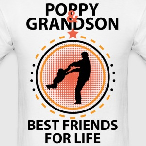 Poppy And Grandson Best Friends For Life T-Shirts - Men's T-Shirt