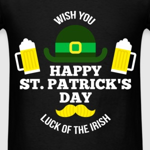 St Pаtrick - Wish you Happy St Patrick's day luck - Men's T-Shirt
