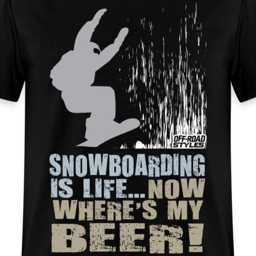Snowboarder Beer Shirt