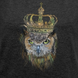 Owl T-Shirts - Women´s Roll Cuff T-Shirt