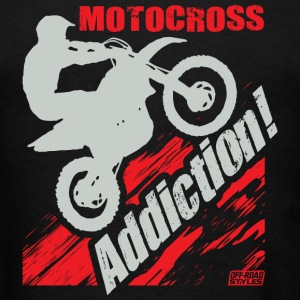 Motocross Addiction T-Shirts - Men's T-Shirt