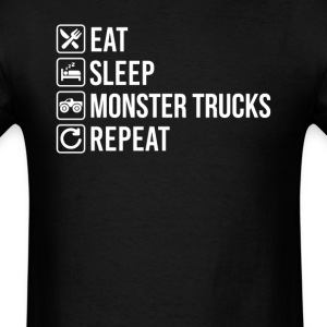 4x4 Monster Trucks Eat Sleep Repeat T-Shirt T-Shirts - Men's T-Shirt