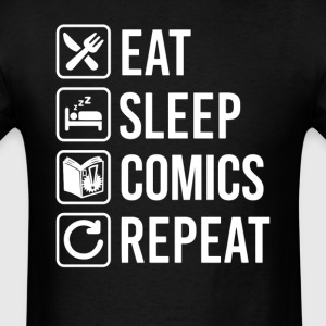 Read Comics  Eat Sleep Repeat T-Shirt T-Shirts - Men's T-Shirt