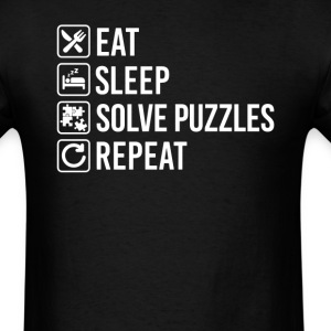 Solve Puzzles Jigsaws  Eat Sleep Repeat T-Shirt T-Shirts - Men's T-Shirt