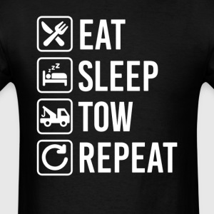 Tow Truck Eat Sleep Repeat T-Shirt T-Shirts - Men's T-Shirt