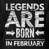 birthday shirt designs legends born in february  Baby Bodysuits - Short Sleeve Baby Bodysuit