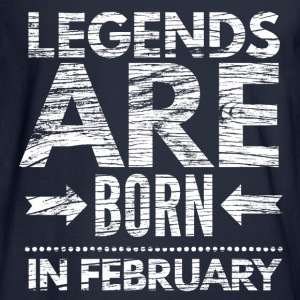 birthday shirt designs legends born in february  Long Sleeve Shirts - Men's Long Sleeve T-Shirt