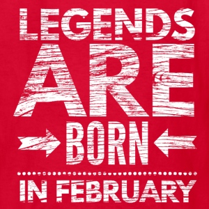 birthday shirt designs legends born in february  Kids' Shirts - Kids' T-Shirt