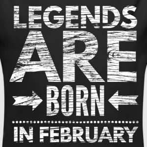birthday shirt designs legends born in february  Baby Bodysuits - Long Sleeve Baby Bodysuit