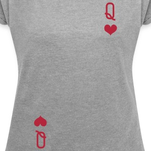 QUEEN OF HEARTS ALICE IN WONDERLAND T-Shirts - Women´s Rolled Sleeve Boxy T-Shirt