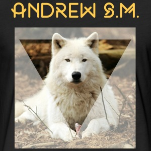 Ivory wolf  - Fitted Cotton/Poly T-Shirt by Next Level