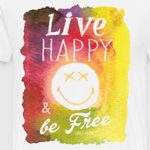 SmileyWorld Live Happy And Be Free - Men's Premium T-Shirt