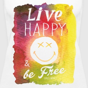 SmileyWorld Live Happy And Be Free - Women's Premium Tank Top