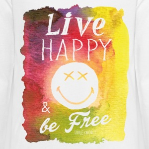 SmileyWorld Live Happy And Be Free - Kids' Premium Long Sleeve T-Shirt