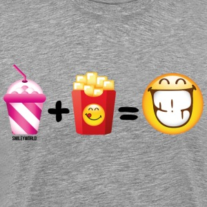 SmileyWorld Milkshake And French Fries - Men's Premium T-Shirt