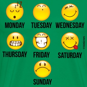 SmileyWorld Weekly Overview - Men's Premium T-Shirt