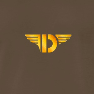 Gold Letter D - Men's Premium T-Shirt
