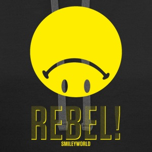 SmileyWorld Upside Down Rebellious - Contrast Hoodie