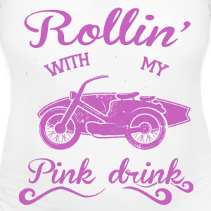 Rollin' with my pink drink T-Shirts - Women's Maternity T-Shirt
