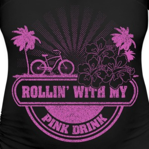 cycling with my pink drink T-Shirts - Women's Maternity T-Shirt