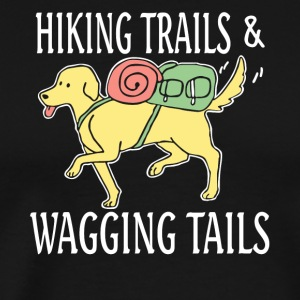Hiking Trails Wagging Tails T Shirt - Men's Premium T-Shirt