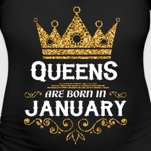 queens are born in january T-Shirts - Women's Maternity T-Shirt