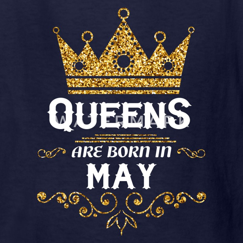 queens are born in may Kids' Shirts - Kids' T-Shirt